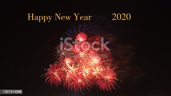 Happy New Year 2020, beautiful holiday fireworks photos