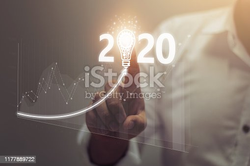 istock Happy New Year 2020 Concept 1177889722