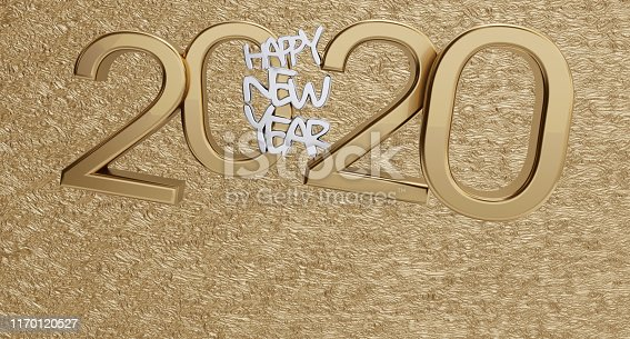 istock happy new year 2020 golden background bold letters 3d-illustration 1170120527