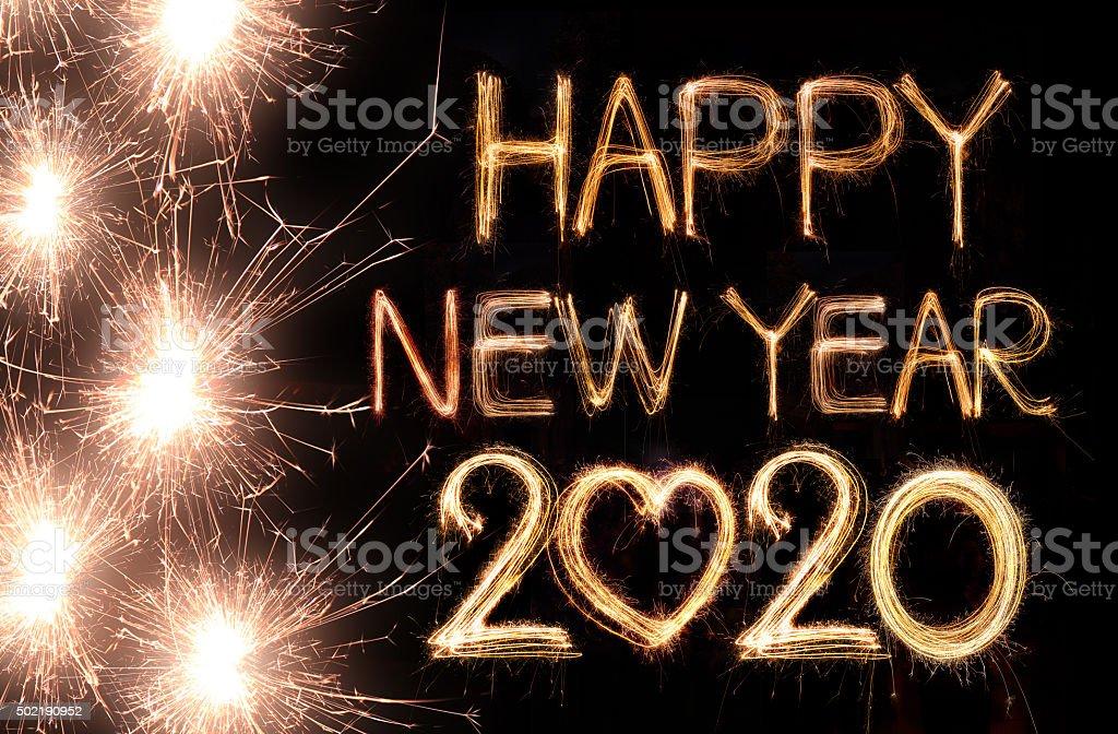 Happy new year 2020 - Royalty-free 2020 Stock Photo
