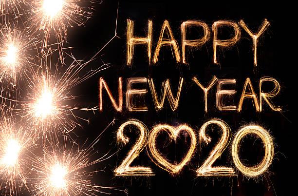 Feliz nuevo año 2020 - foto de stock