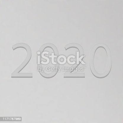 istock Happy New Year 2020 white text 1171787989