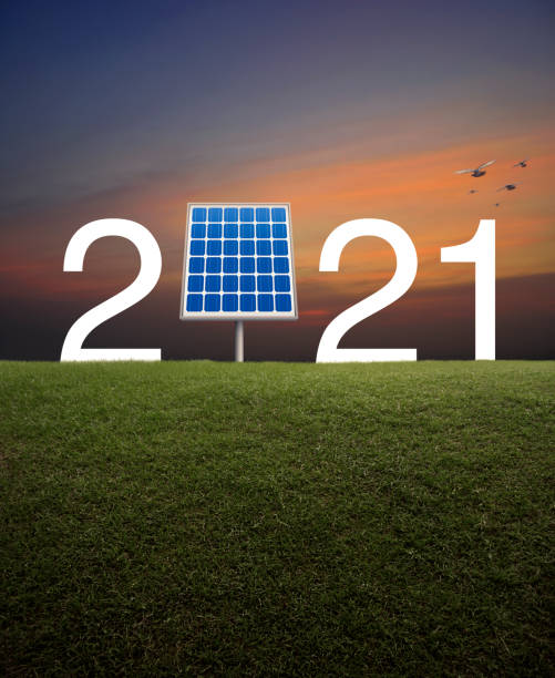 Happy new year 2021 ecological cover concept stock photo
