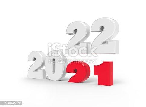 Happy New Year 2022 - 3D illustration