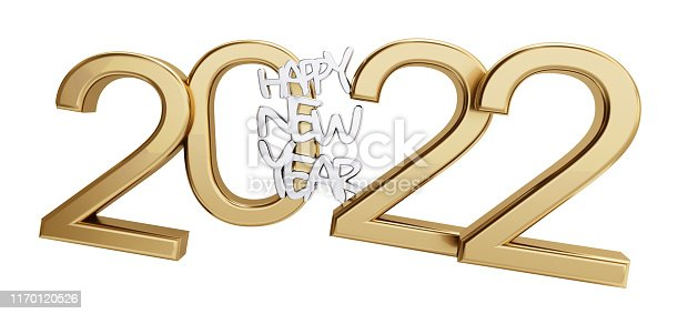 istock happy new year 2022 golden isolated bold letters 3d-illustration 1170120526
