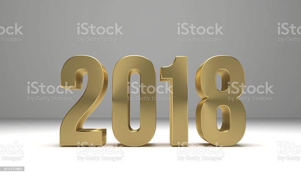happy new year 3d render graphic stock photo