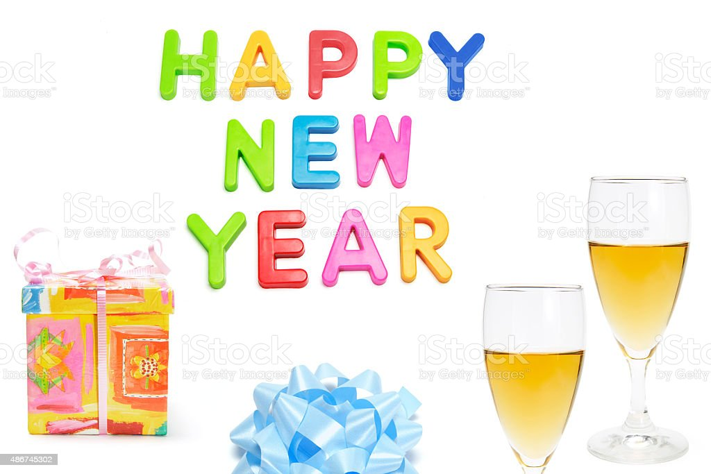Happy New Year and Party Products stock photo