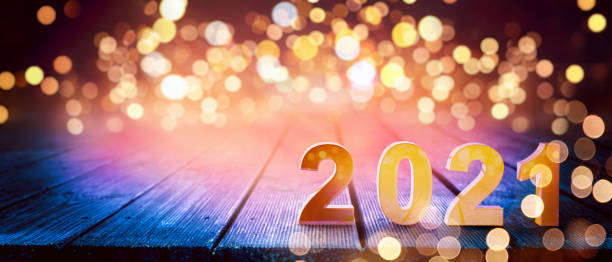 happy new year background. start in 2021. 3d illustration - lunar new year stock pictures, royalty-free photos & images