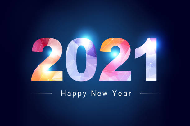 Happy New Year Background. Start in 2021. 3D illustration Creative design concept for the new year festival new years day stock pictures, royalty-free photos & images