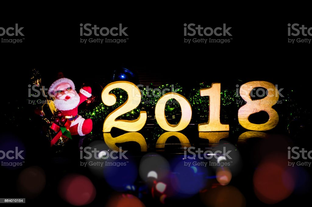 2018 Happy New Year Background With Number Symbols Wood Beautiful