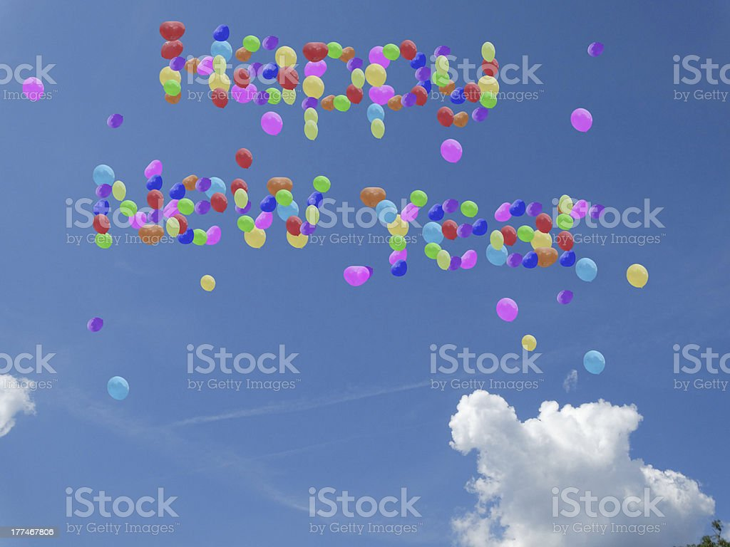 happy new year balloons royalty-free stock photo
