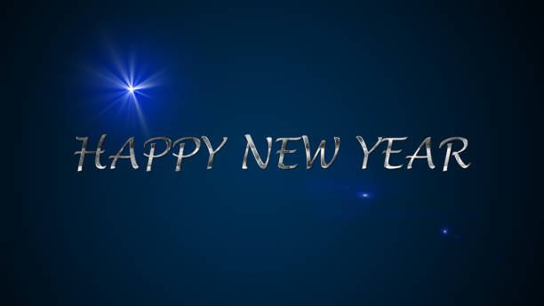 Happy new year banner stock photo