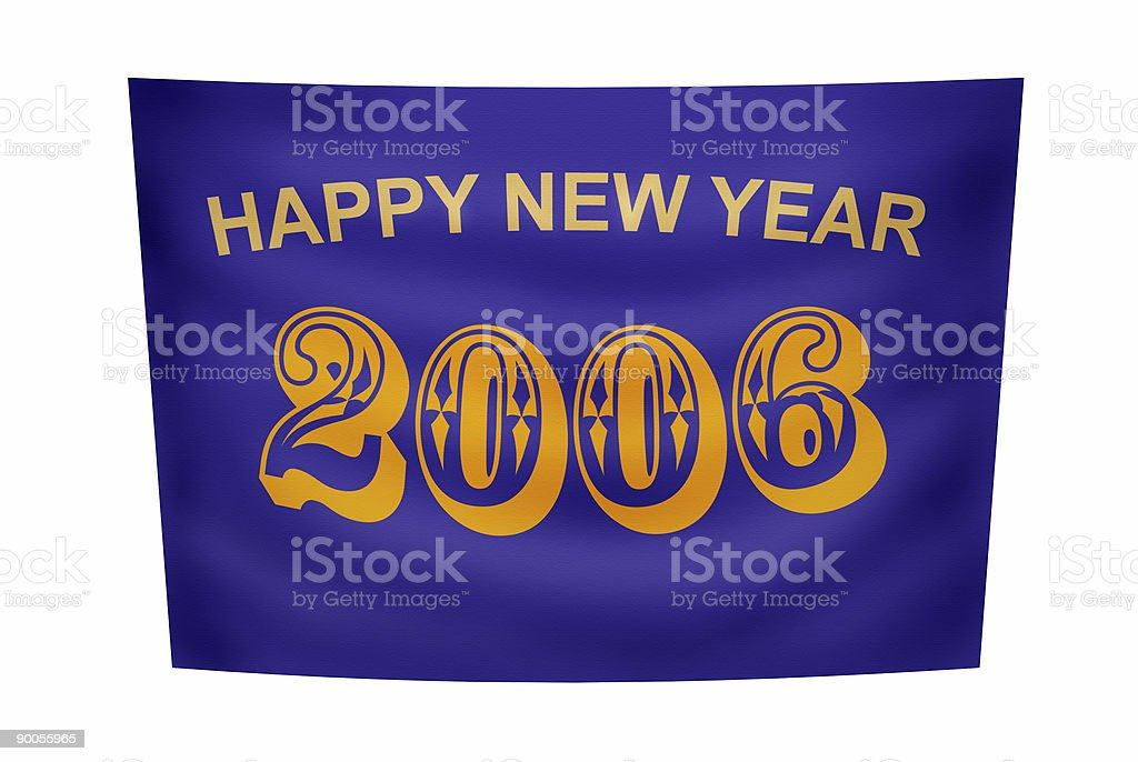 Happy New Year banner royalty-free stock photo