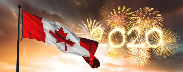 happy new year canada - canada day stock pictures, royalty-free photos & images