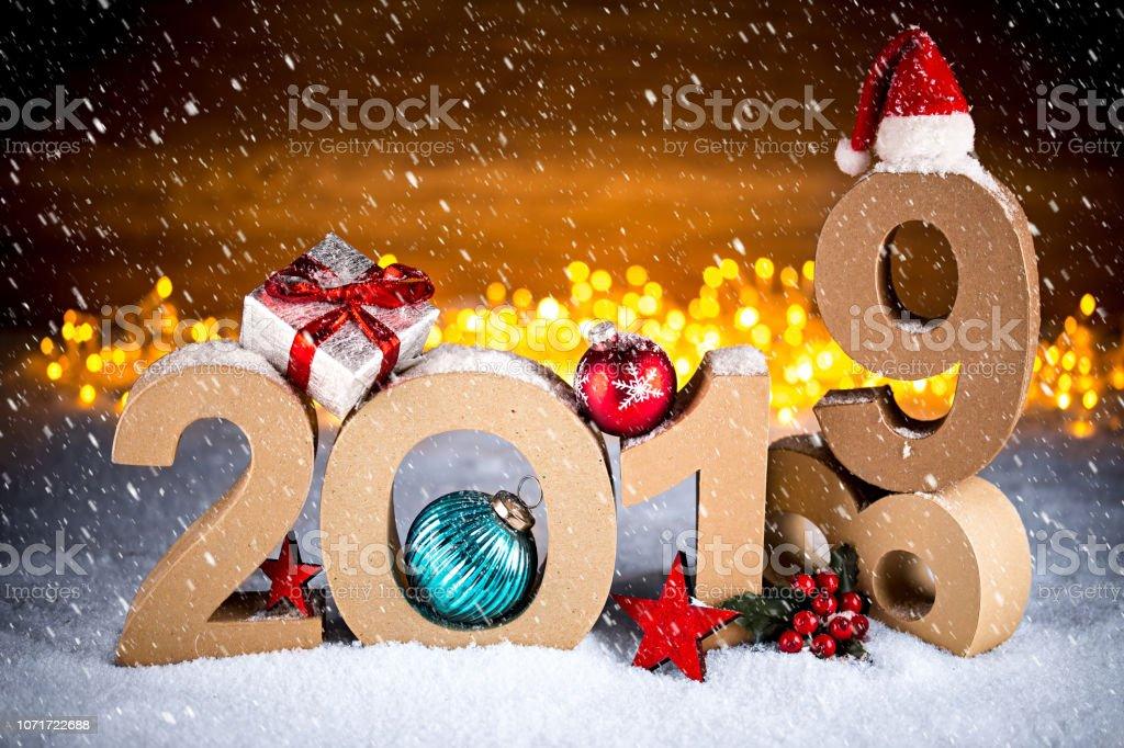 Weihnachten 2019 In Deutschland.2019 Bokeh Hintergrund Leuchtet Frohes Neues Jahr Weihnachten