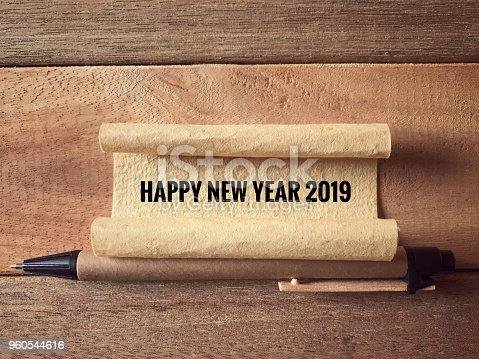 istock Happy new year concept. 960544616