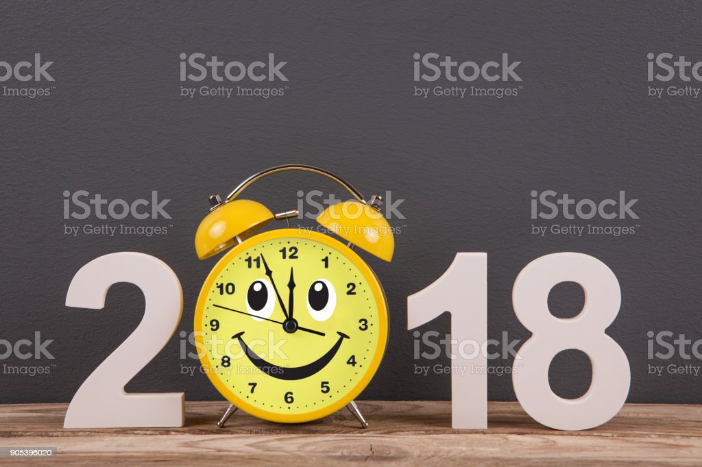 Happy new year concepts 2018 countdown clock