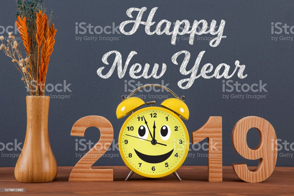 Happy new year concepts 2019 countdown clock