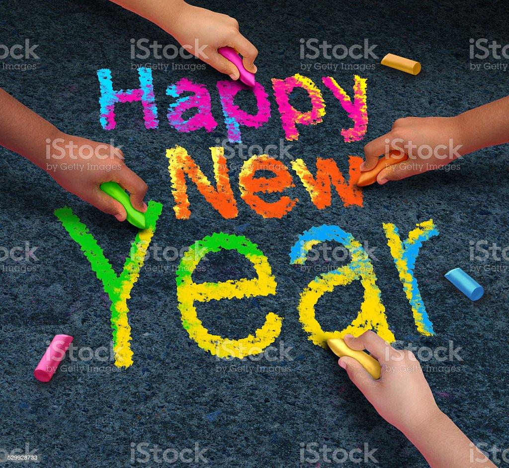 Happy New Year Friends stock photo