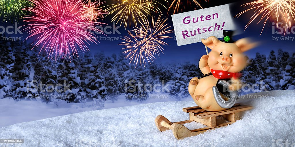 happy new year in german royalty free stock photo