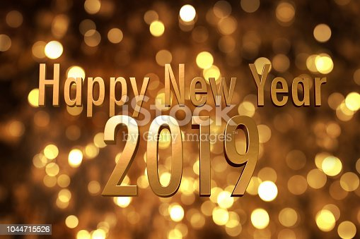 istock 2019 happy new year number with sparkling gold bokeh backgrorund 1044715526