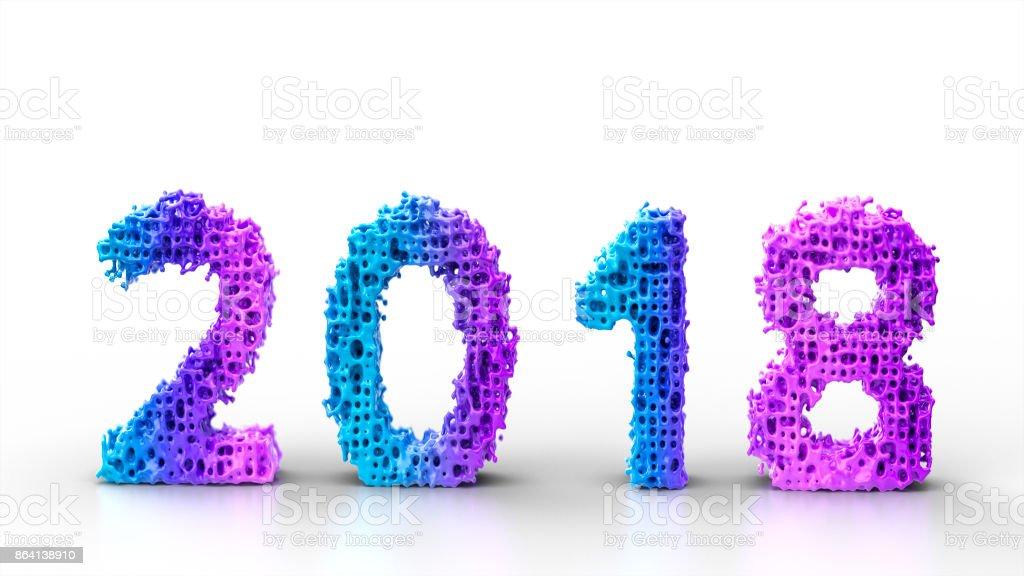 2018 happy new year royalty-free stock photo