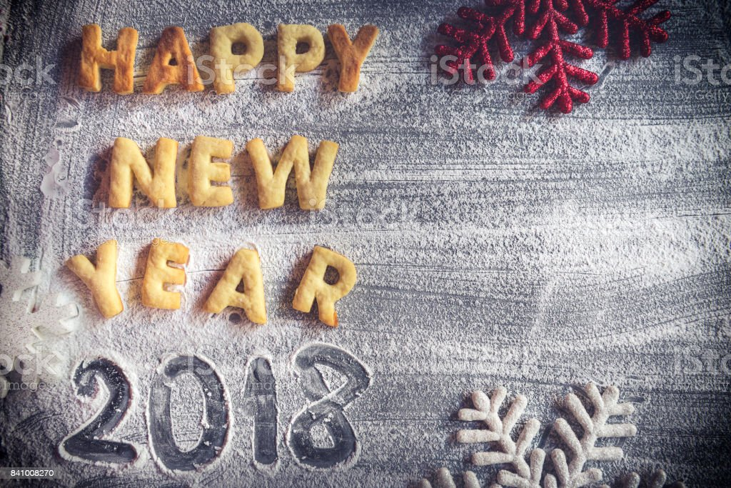 Happy New Year sign stock photo