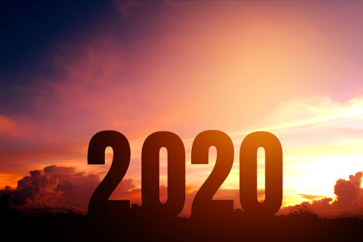 istock 2020 Happy New Year Silhouette of Number Newyear concept 1134372744