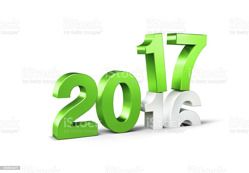 2017 Happy New Year type stock photo