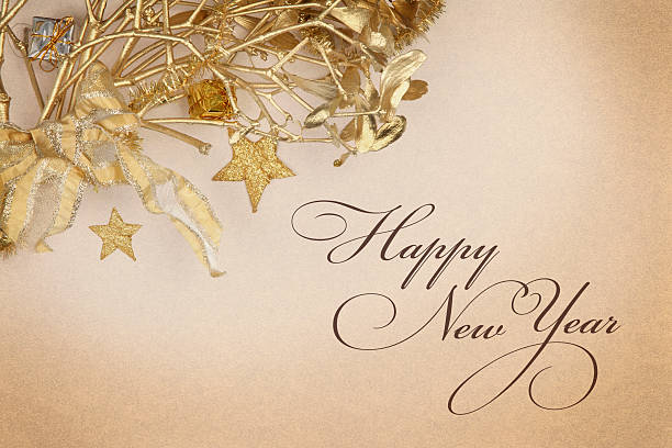 Happy New Year Wish stock photo