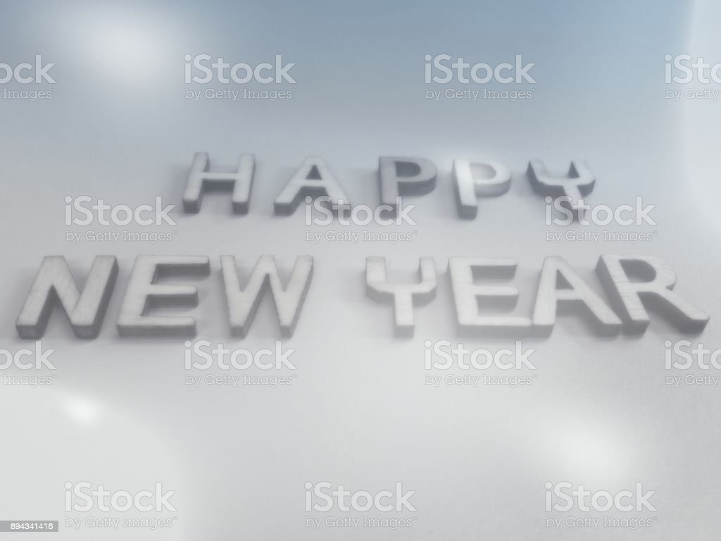 Happy New Year Wish Word Quote Heading Title Stock Photo & More ...