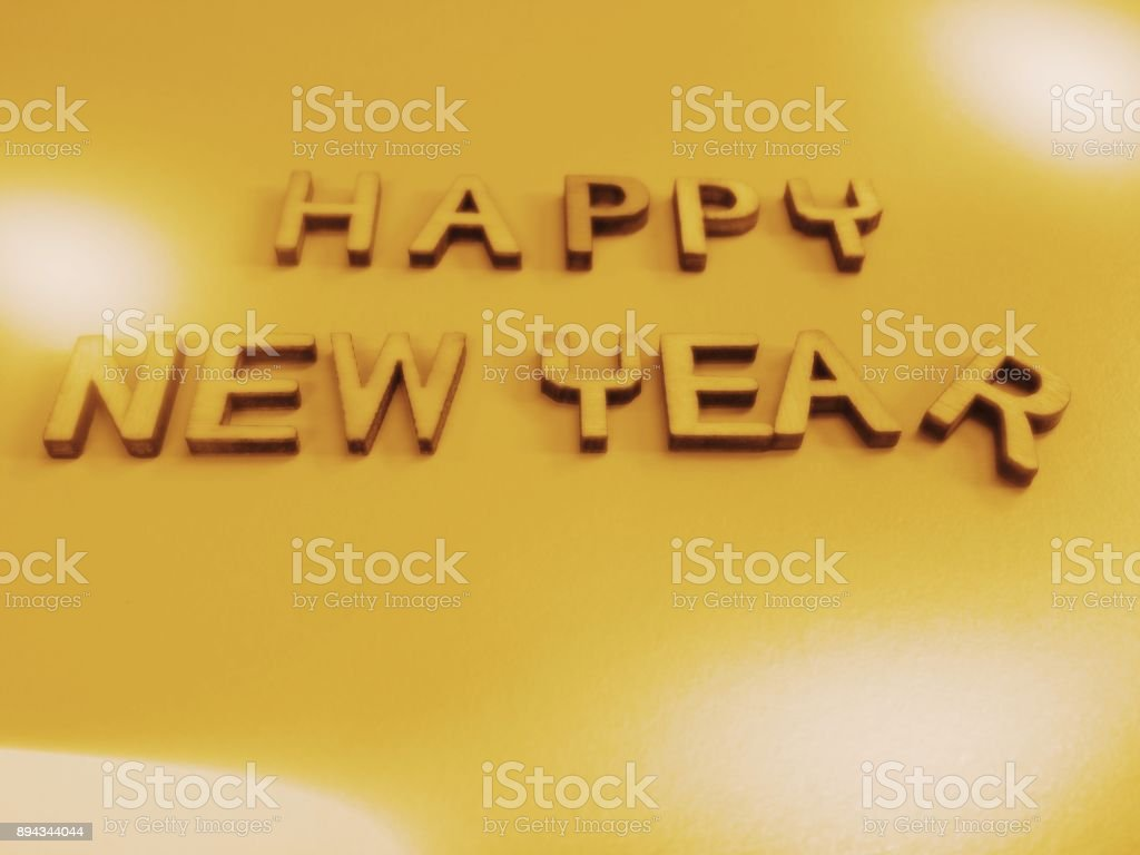 happy new year wish word quote heading title royalty free stock photo