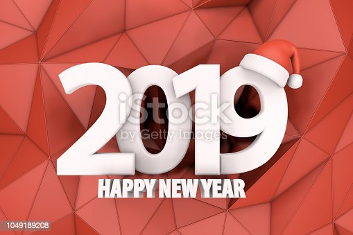 1063751940istockphoto 2019 Happy New Year with Santa Hat 1049189208