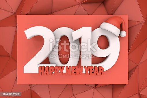 1063751940istockphoto 2019 Happy New Year with Santa Hat 1049192582