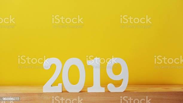 Happy New Year With Space Background - Fotografias de stock e mais imagens de 2019