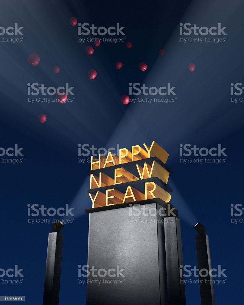 Happy New Year XL royalty-free stock photo