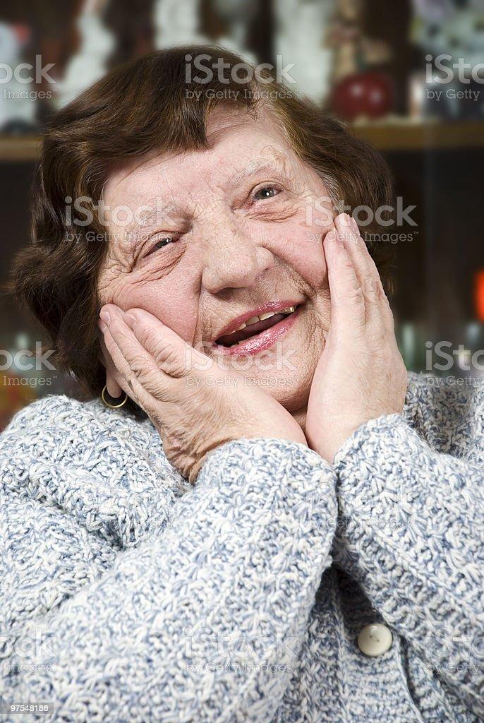 Happy nice senior woman royalty-free stock photo