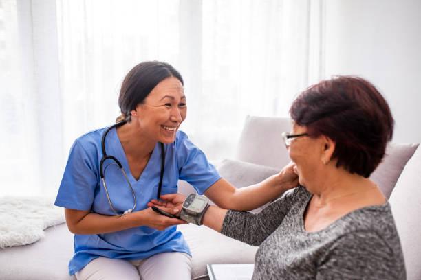Happy nurse measuring blood pressure of a senior woman in living room picture id1151239078?b=1&k=6&m=1151239078&s=612x612&w=0&h=peivfsynxfodo2f25qehaw3hdrievehjvspehjjml7y=