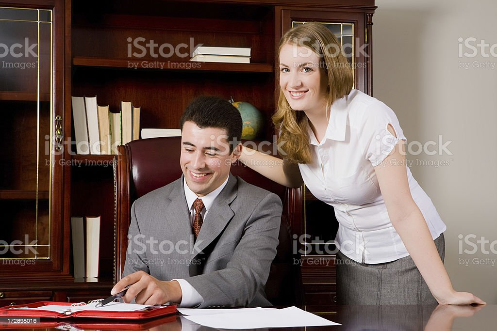 Happy Office workers royalty-free stock photo
