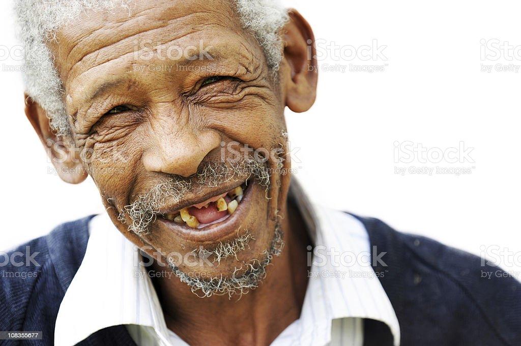 Happy old man stock photo