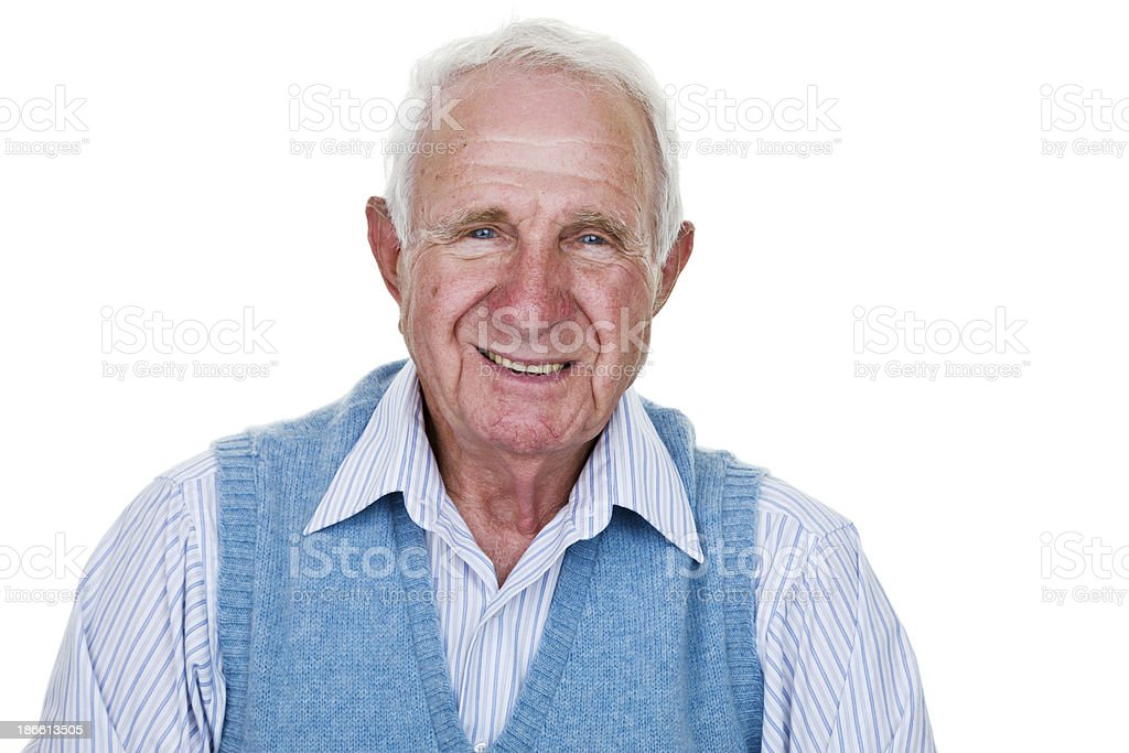 Happy old man stock photo