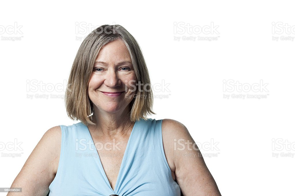Happy older investor royalty-free stock photo