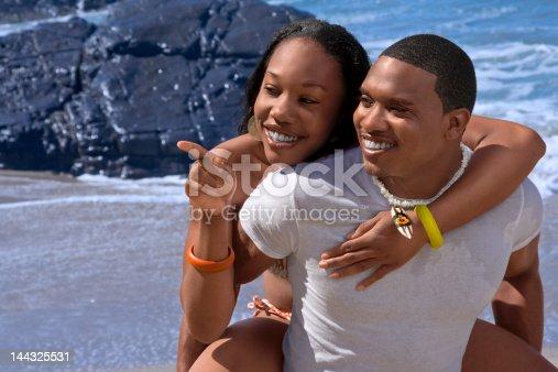 istock Happy on beach 144325531