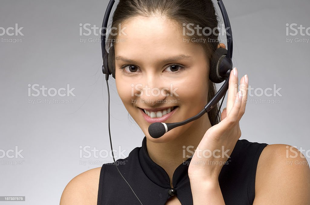 happy on the phone royalty-free stock photo