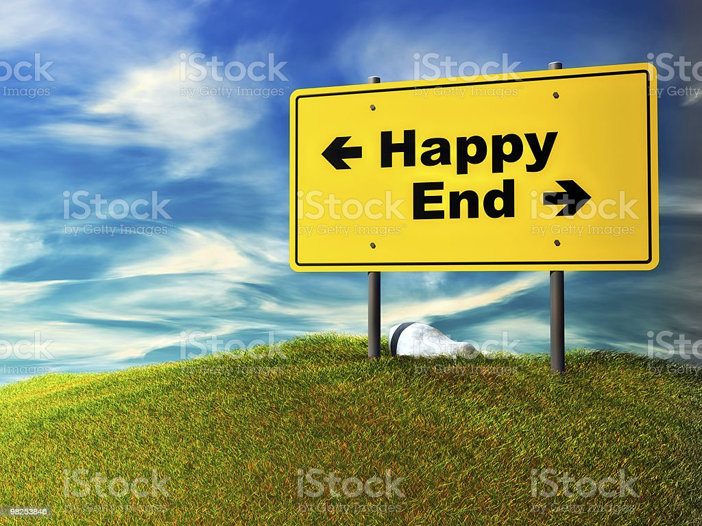 happy or end royalty-free stock photo