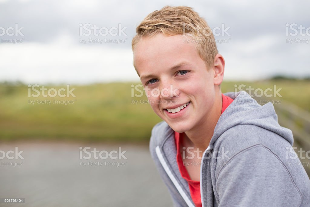 Happy Outdoor Portrait stock photo