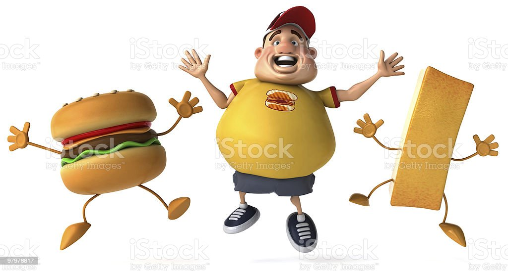 Happy overweight kid royalty-free stock photo