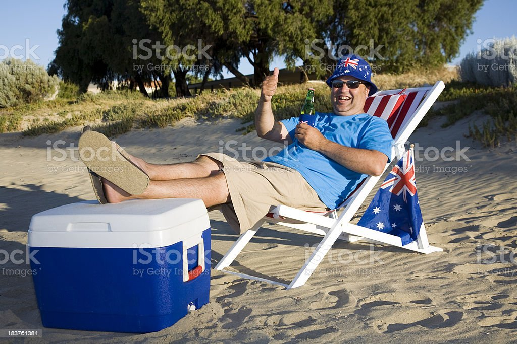 Happy Oz Day Man stock photo