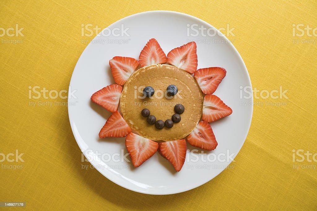 happy pancake stock photo