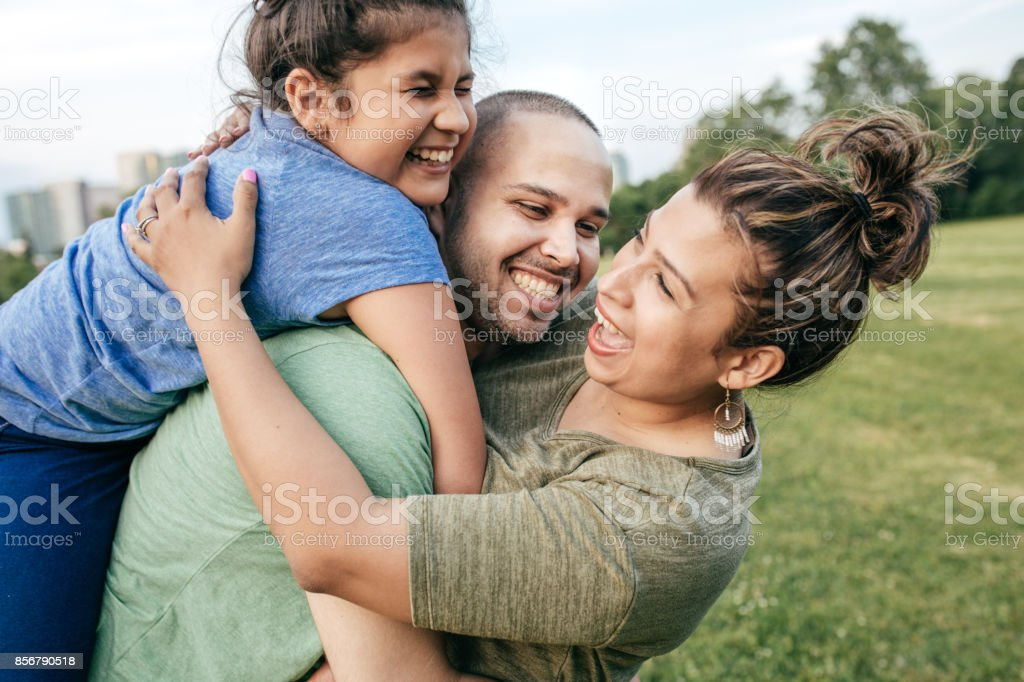 Happy parenting moments stock photo